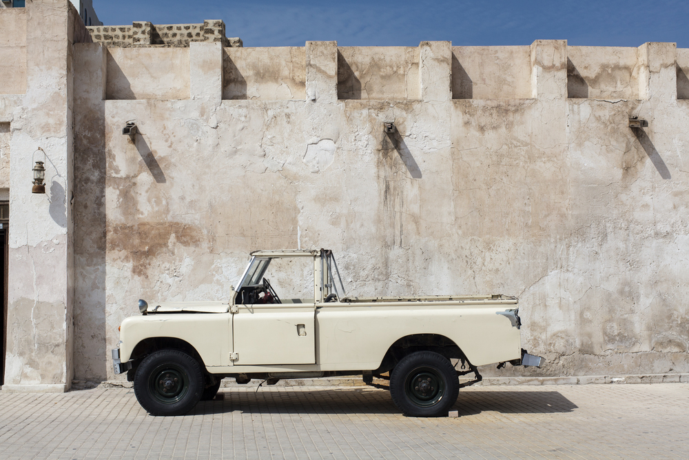 an old jeep in Sharjah, UAE